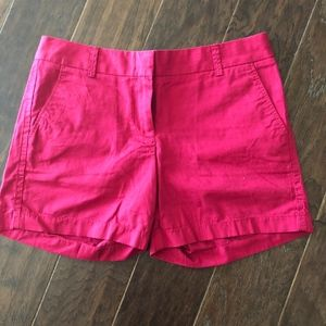 J Crew Cranberry Chino Shorts